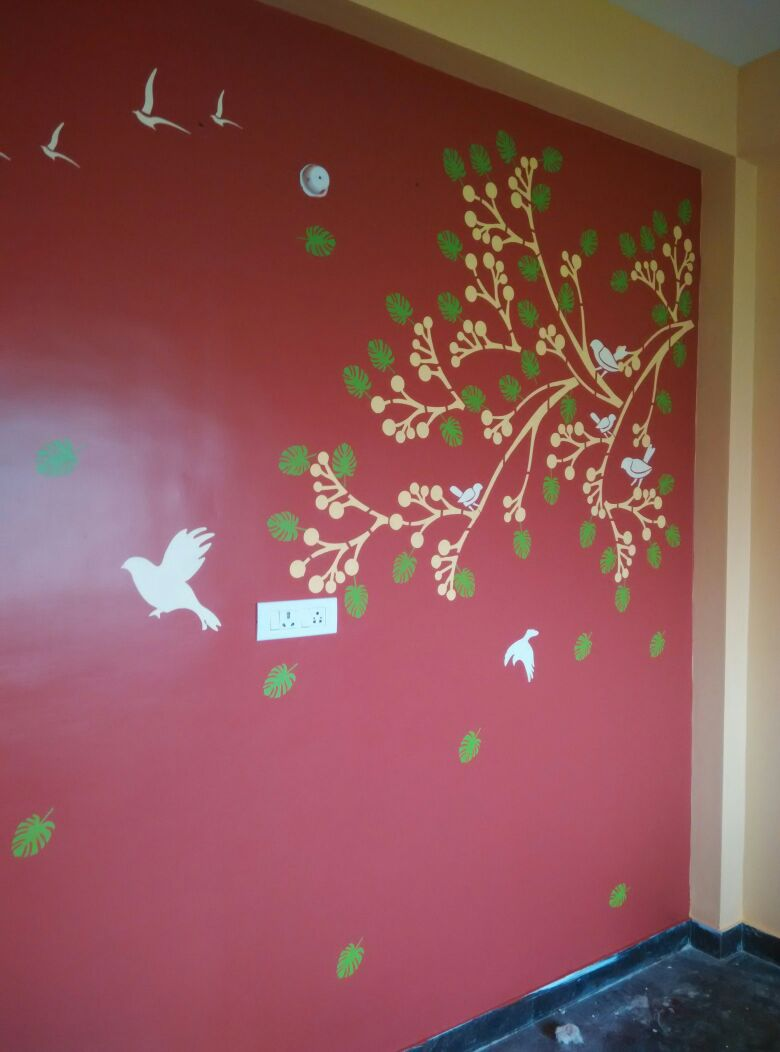 Exceptional Stencil Works PD4 Wall Design Painting