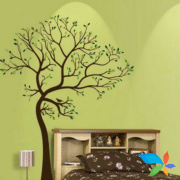 Bed with Tree - artwork painting