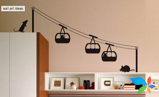 Funny shelves - Wall art painting