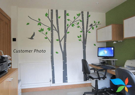 Trees in work place - Wall artwork painting
