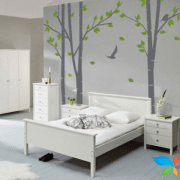 bed between trees Wall art painting